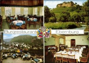 Wappen Ak Bad Münster am Stein Ebernburg Bad Kreuznach in Rheinland Pfalz, Burgrestaurant
