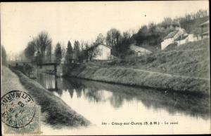 Ak Crouy sur Ourcq Seine et Marne, Le canal