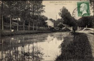 Ak Crouy sur Ourcq Seine et Marne, Canal de l'Ourcq