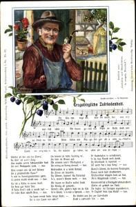Lied Ak Schneider, Rud., Röder, Vogel, Wilhelm, Erzgebirgische Zufriedenheit, alter Mann mit Pfeife