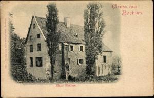 Ak Bochum im Ruhrgebiet, Haus Rechen, Gartenpartie