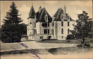 Ak Vallon en Sully Allier, Chateau des Prugnes