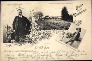 Ak Mürzzuschlag Steiermark, Peter Rosegger und sein Geburtshaus