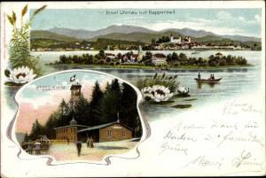 Litho Rapperswil Kanton Sankt Gallen, Insel Ufenau, Etzel Kulm