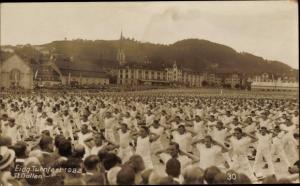 Foto Ak Sankt Gallen Stadt Schweiz, Eidgenössisches Turnfest 1922, Massenturnen