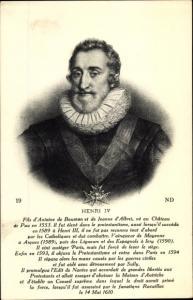 Künstler Ak Henri IV, König von Frankreich, Portrait