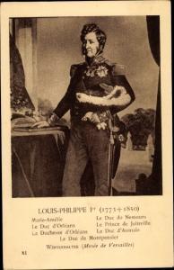Künstler Ak Louis Philippe I, König von Frankreich, Julimonarchie