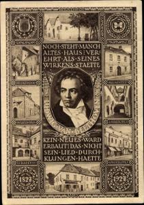 Ganzsachen Ak Österreich, Komponist Ludwig van Beethoven, Heiligenstadt, Nussdorf