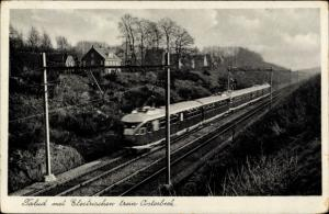 Ak Oosterbeek Gelderland, Talud met Electrischen trein Oosterbeck