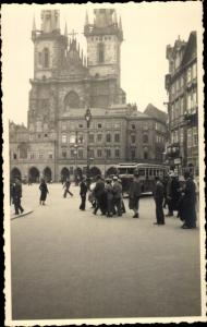 Foto Ak Praha Prag Tschechien, Altstädter Ring mit Tramway