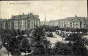 Ak Szczecin Stettin Pommern, Kaiser Wilhelm Platz