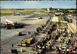 Ak Düsseldorf am Rhein, Blick auf den Flughafen