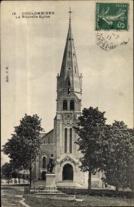 Ak Coulommiers Seine et Marne, La Nouvelle Eglise