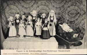 Ak Puppen in Niederländischer Tracht, Schilderachtige Oud Hindelooper Kleederdracht