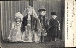 Ak Poppententoonstelling te Dordrecht 1904, Puppen in niederländischer Tracht