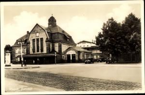 Ak Rheydt Mönchengladbach im Ruhrgebiet, Bahnhof, Straßenseite