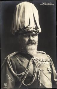 Ak Wilhelm II, König von Württemberg, Portrait, Schützenschnur