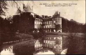 Ak Bernay-en-Brie Seine et Marne, Chateau d ela Grange