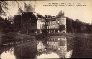 Ak Bernay-en-Brie Seine et Marne, Chateau de la Grange
