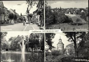 Ak Nümbrecht im Oberbergischen Kreis, Hauptstraße, Gesamtansicht, Schloss Homburg