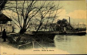 Ak Joinville le Pont Val de Marne, Bords de Marne