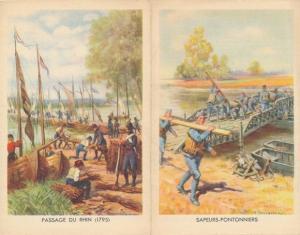 Klapp Ak Engagements dans les Troupes Metropolitaines, Passage du Rhin en 1795, Sapeurs Pontonniers