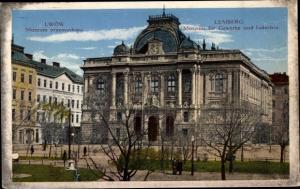 Ak Lwów Lemberg Ukraine, Museum für Gewerbe und Industrie