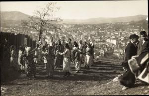 Ak Sarajevo Bosnien Herzegowina, Panorama, Tanzende Kinder