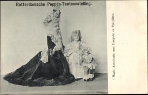 Ak Rotterdamsche Poppen Tentoonstelling, Nationale Kleederdrachten, Puppen, niederländische Tracht