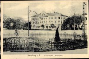 Ak Naumburg an der Saale, Bismarckplatz, Hotel zur Reichskrone