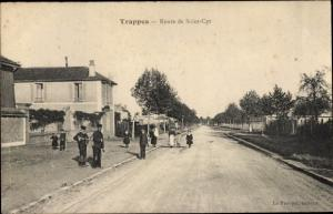Ak Trappes Yvelines, Route de Saint Cyr