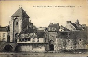 Ak Moret-sur-Loing Seine et Marne, Vue d'ensemble