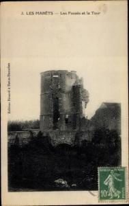 Ak Les Marets Seine et Marne, Les Fosses et la Tour