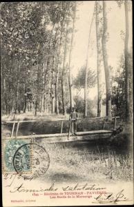 Ak Tournan-en-Brie Seine et Marne, Les bords de la Marsange