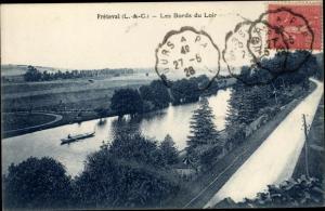 Ak Fréteval Loir et Cher, Les Bords du Loir