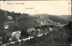 Ak Kipsdorf Altenberg im sächsischen Erzgebirge, Gesamtansicht Ober Kipsdorf