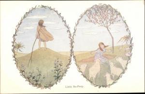 Künstler Ak Willebeek Le Mair, H., Little Bo Peep, Old Nursery Rhymes