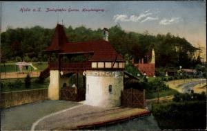 Ak Halle an der Saale, Zoologischer Garten, Haupteingang