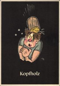 Künstler Ak Moritz, H., Kopfholz, Lustige Gezähekiste, bergmännische Begriffe, Bergbau