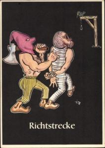 Künstler Ak Moritz, H., Richtstrecke, Lustige Gezähekiste, bergmännische Begriffe, Bergbau, Henker