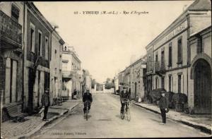 Ak La Salle de Vihiers Maine et Loire, Rue d'Argenton