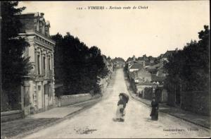 Ak La Salle de Vihiers Maine et Loire, Arrivee route de Cholet