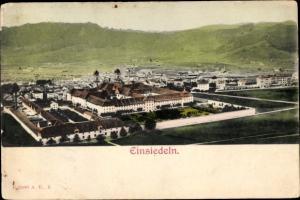 Ak Einsiedeln Kanton Schwyz Schweiz, Panorama vom Ort