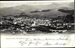 Ak Mürzzuschlag Steiermark, Gesamtansicht