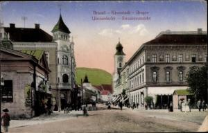 Ak Brassó Brașov Kronstadt Rumänien, Straßenansicht