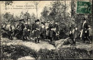 Ak Rambouillet Yvelines, Equipage de Bonnelles, La mort du cerf