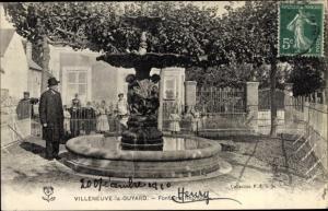 Ak Villeneuve la Guyard Yonne, Fontaine Regnoul