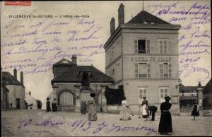 Ak Villeneuve la Guyard Yonne, Hotel de Ville