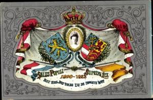 Wappen Ak Königin Wilhelmina der Niederlande, 25. Regierungsjubiläum 1923
