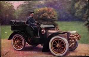 Künstler Ak Sir Thomas Lipton in einem Automobil, The Motoring World, Tuck